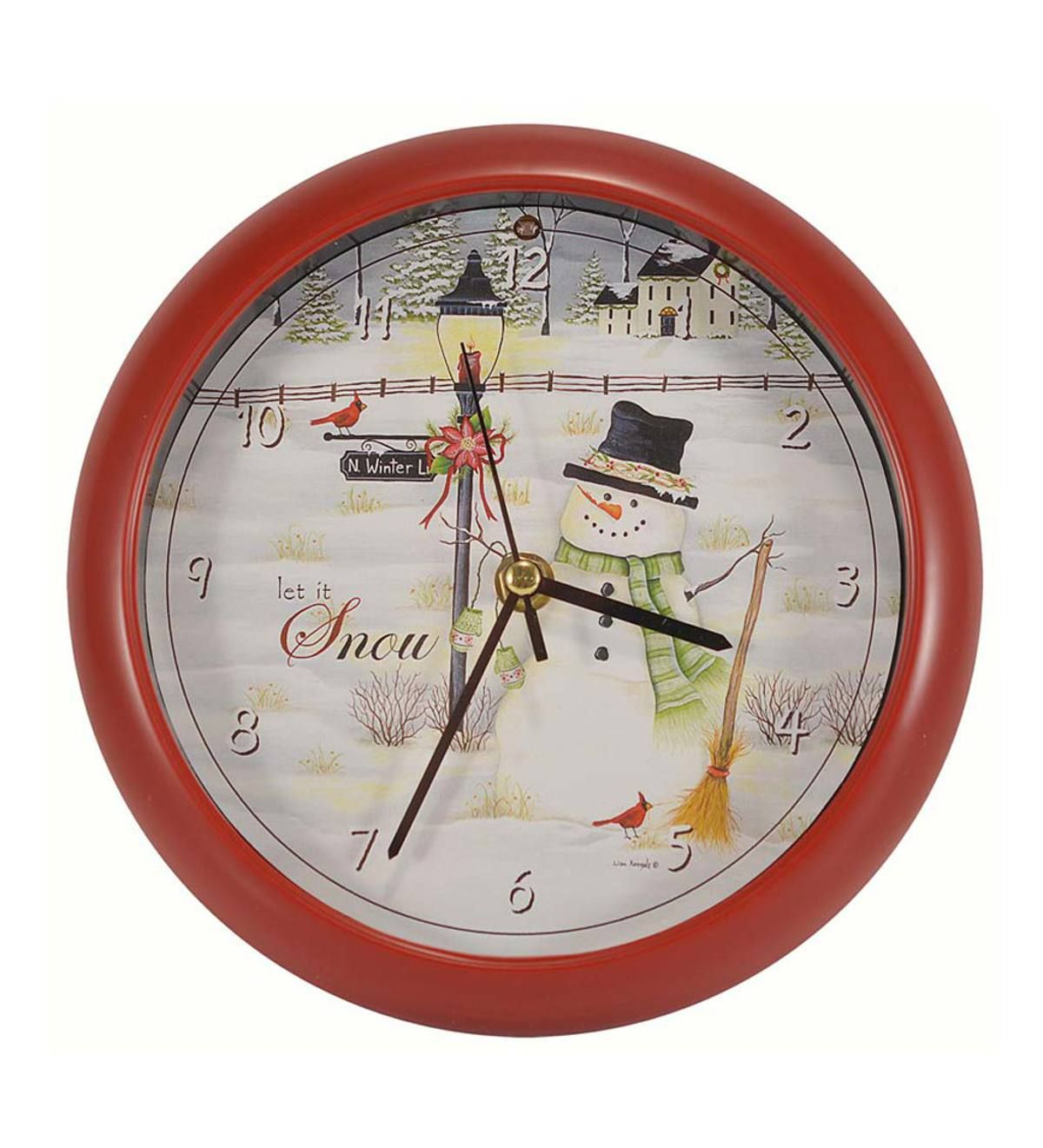 This Delightful Holiday Musical Snowman Clock Is A Must Have Holiday Decoration The Charming Illustration Features A H Holiday Musical Clock The Holiday Aisle