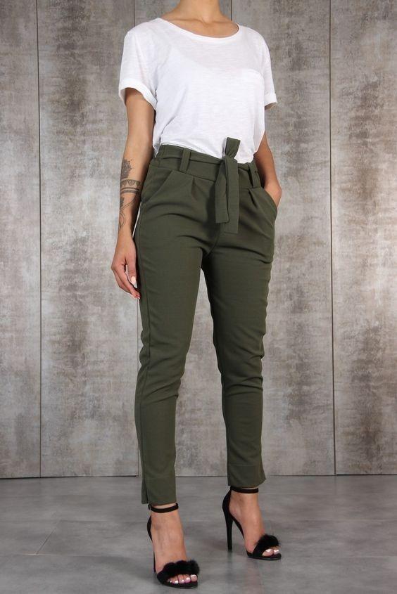 Simplemente Verde Ropa De Moda Pantalones De Moda Ropa