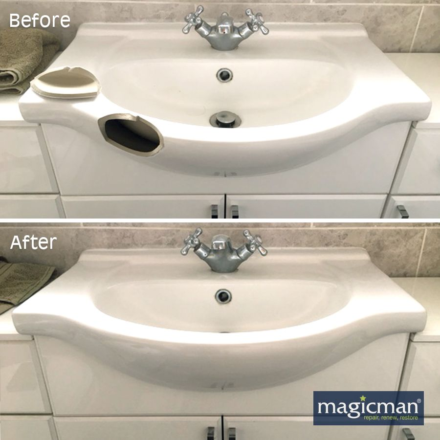 Magicman Repair Holes Chips Cracks And Scratches To Sinks