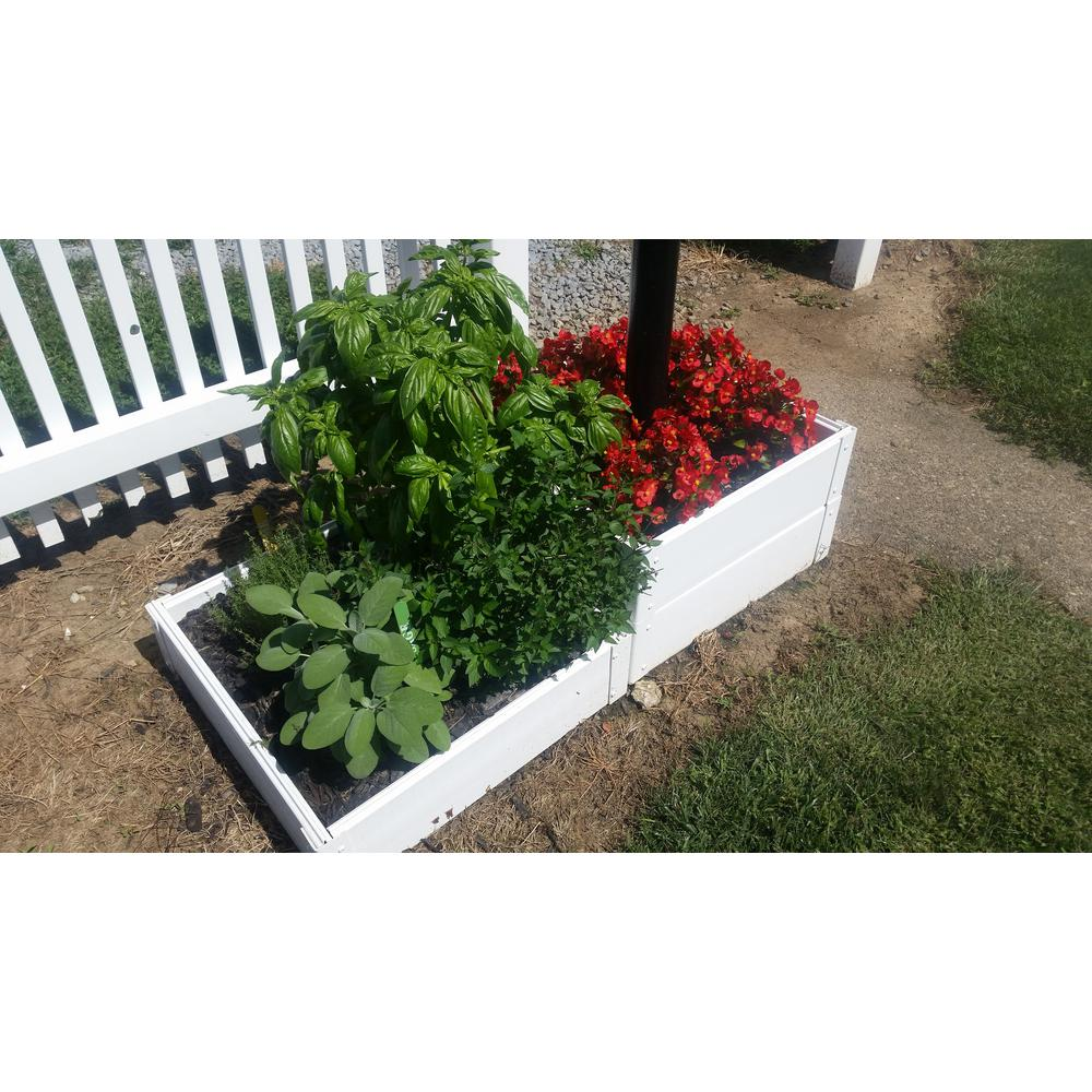 Handy Bed 25 In X 25 In X 6 In White Vinyl Raised Garden Bed