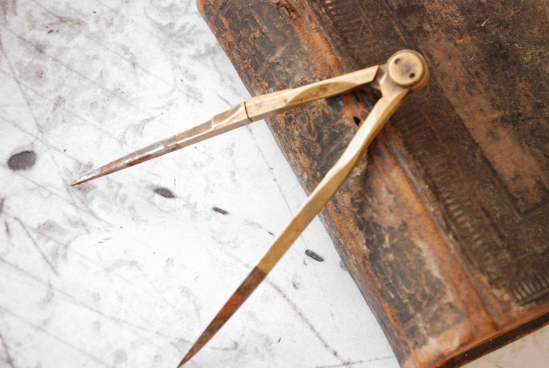 Antique Math Compass