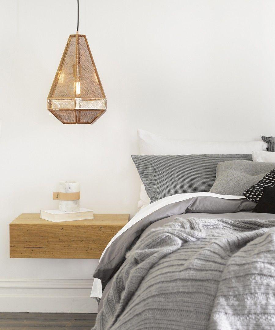Beacon Lighting - Elliot tall 1 light 460mm geometrical copper ...