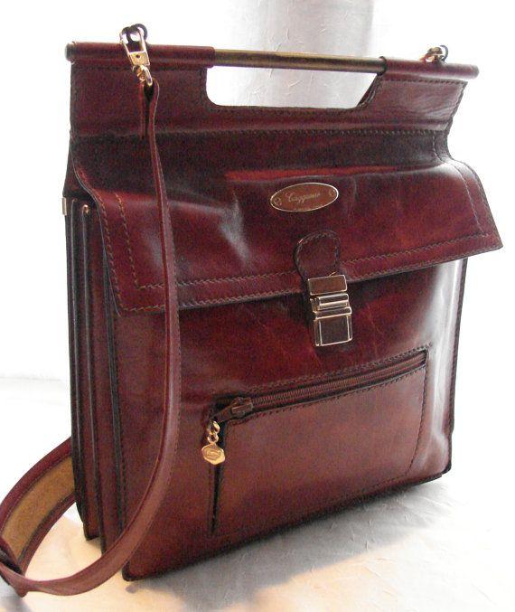 Vintage Designer Leather Caggiano