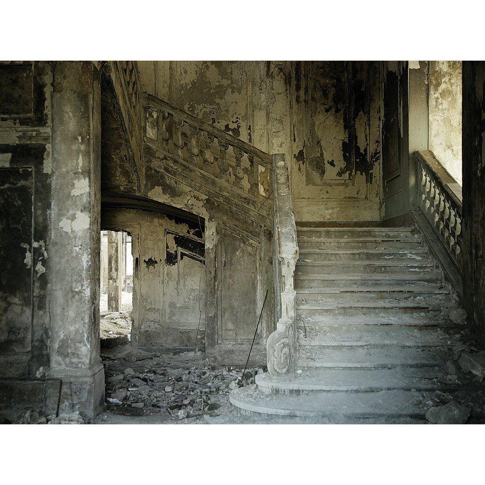 """Déco Imprimé bandeau XXL """"Vieille maison"""" 3 x 4 m ..."""