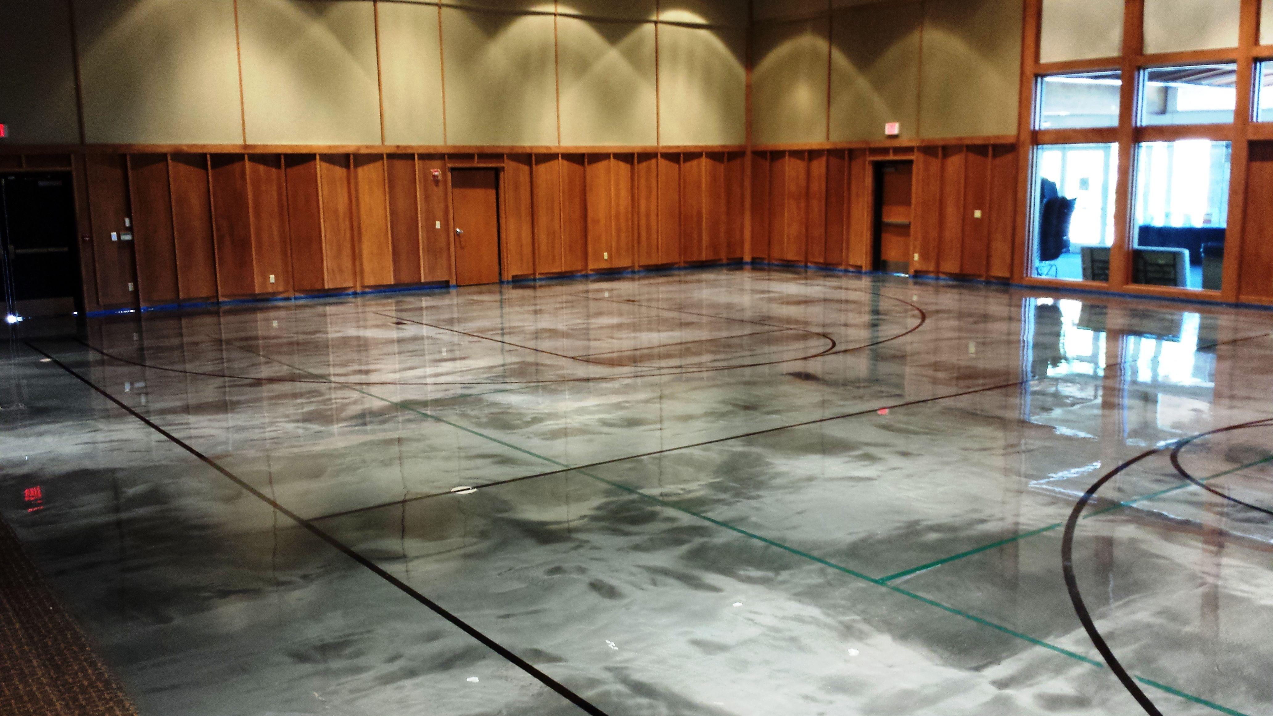 Elite Crete Reflector Epoxy Basketball Court Gets Custom Flooring