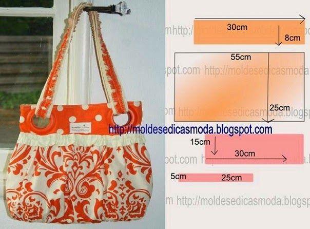 Bolsa De Praia Em Tecido Passo A Passo : Bolsa saco em tecido estampado molde passo a forro