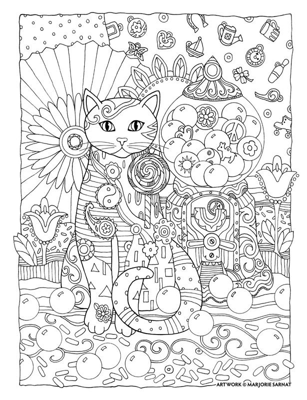 Creative Cats Cat Coloring Book Cat Coloring Page Coloring Pages