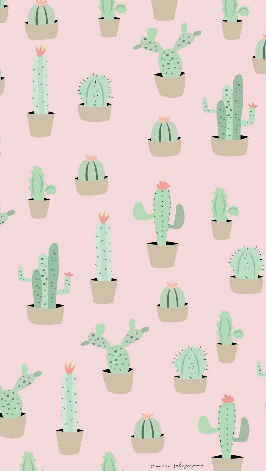 Credit In Painting Khalfiat In 2019 Cactus Backgrounds Screen