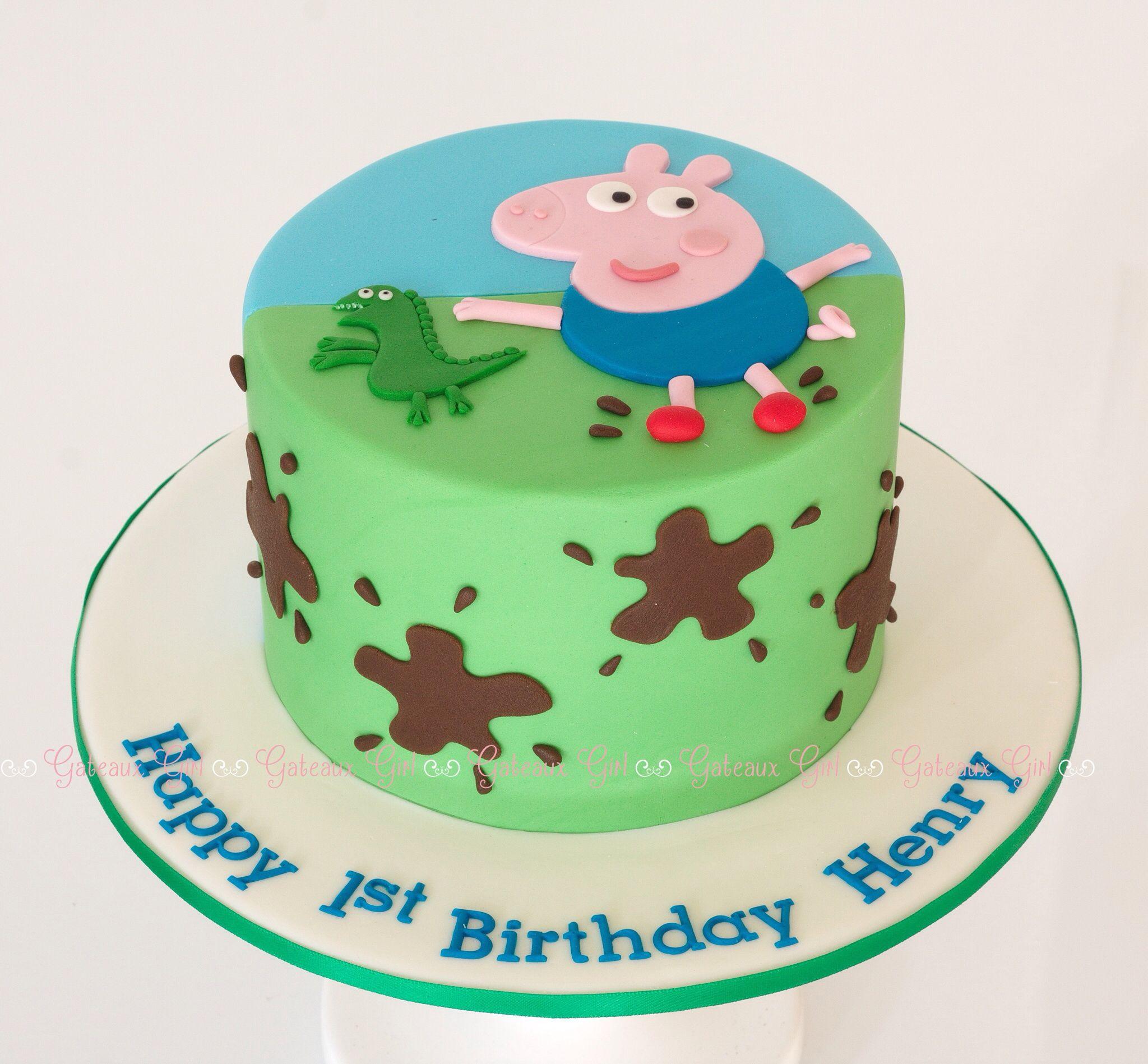 George Pig Cake Gateaux Girl Pig Birthday Cakes Peppa Pig