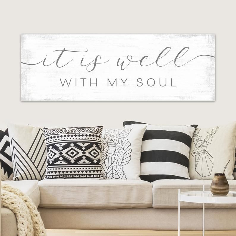 It Is Well With My Soul Sign Etsy Wall Decor Bedroom Family Wall Art Living Room Bedroom