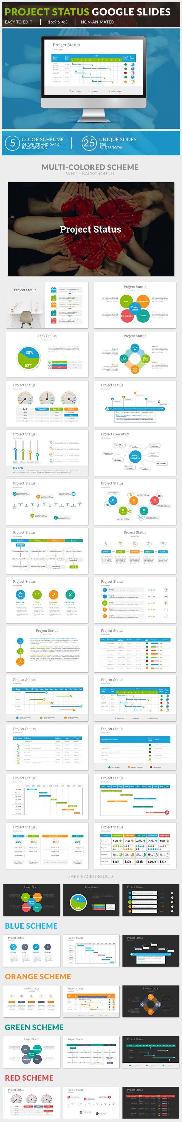 project status google slides google slides presentation