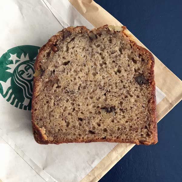 Starbucks Banana Bread Copycat recipe is similar to the banana bread sold at Starbucks.