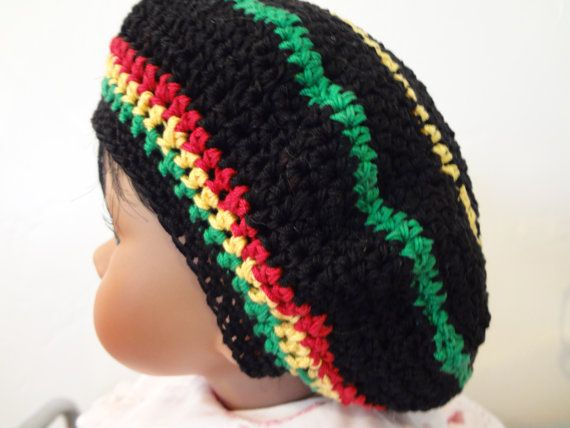 Rasta Hat - Dread Hat - Made with Cotton Yarn - Made In any Size ...
