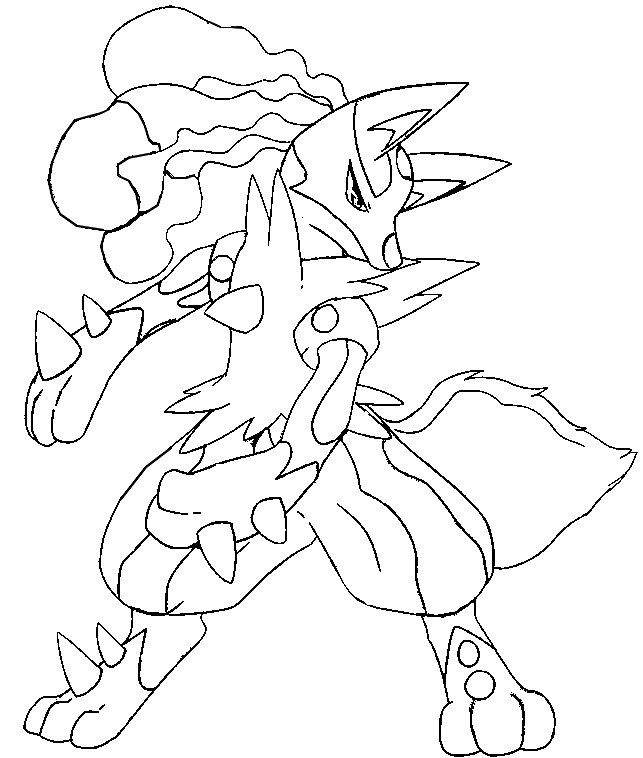 pokemon coloring pages lucario # 10