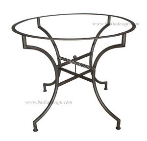 Moroccan Round Wrought Iron Table Base Tb22 With Images