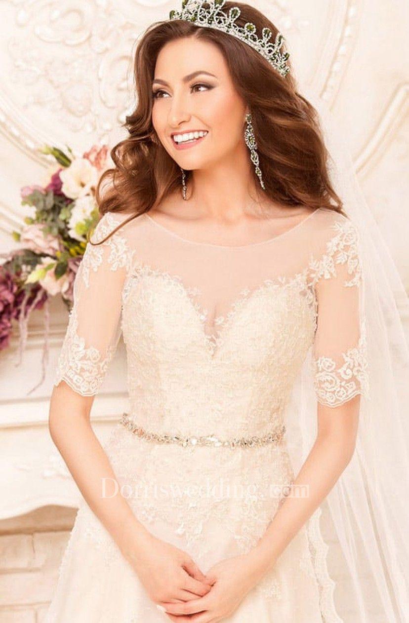 15++ Short sleeve a line lace wedding dress ideas in 2021