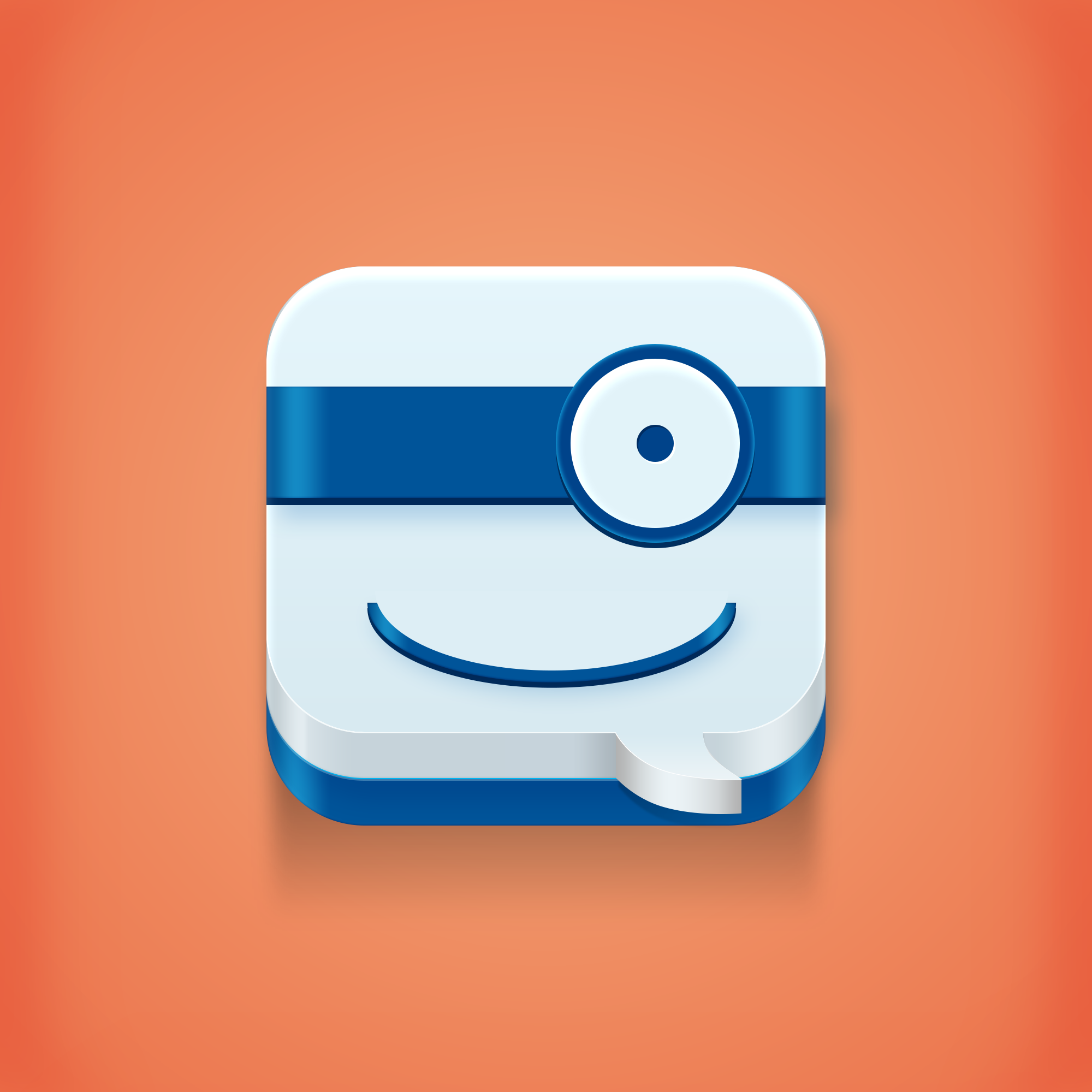 A Messaging App icon,made for fun! App icon, Mobile icon