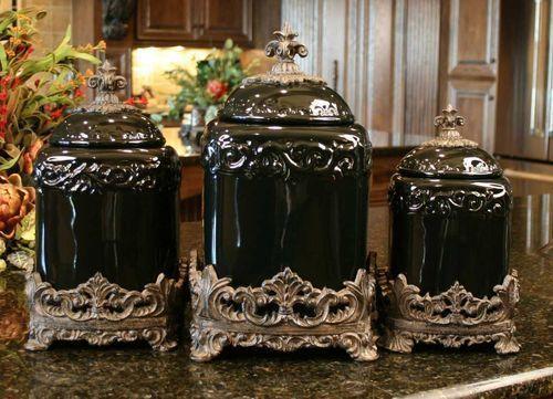 Dillard S Canister Sets Kitchen Drake Design Large Tuscan Fleur De Rh Pinterest Com