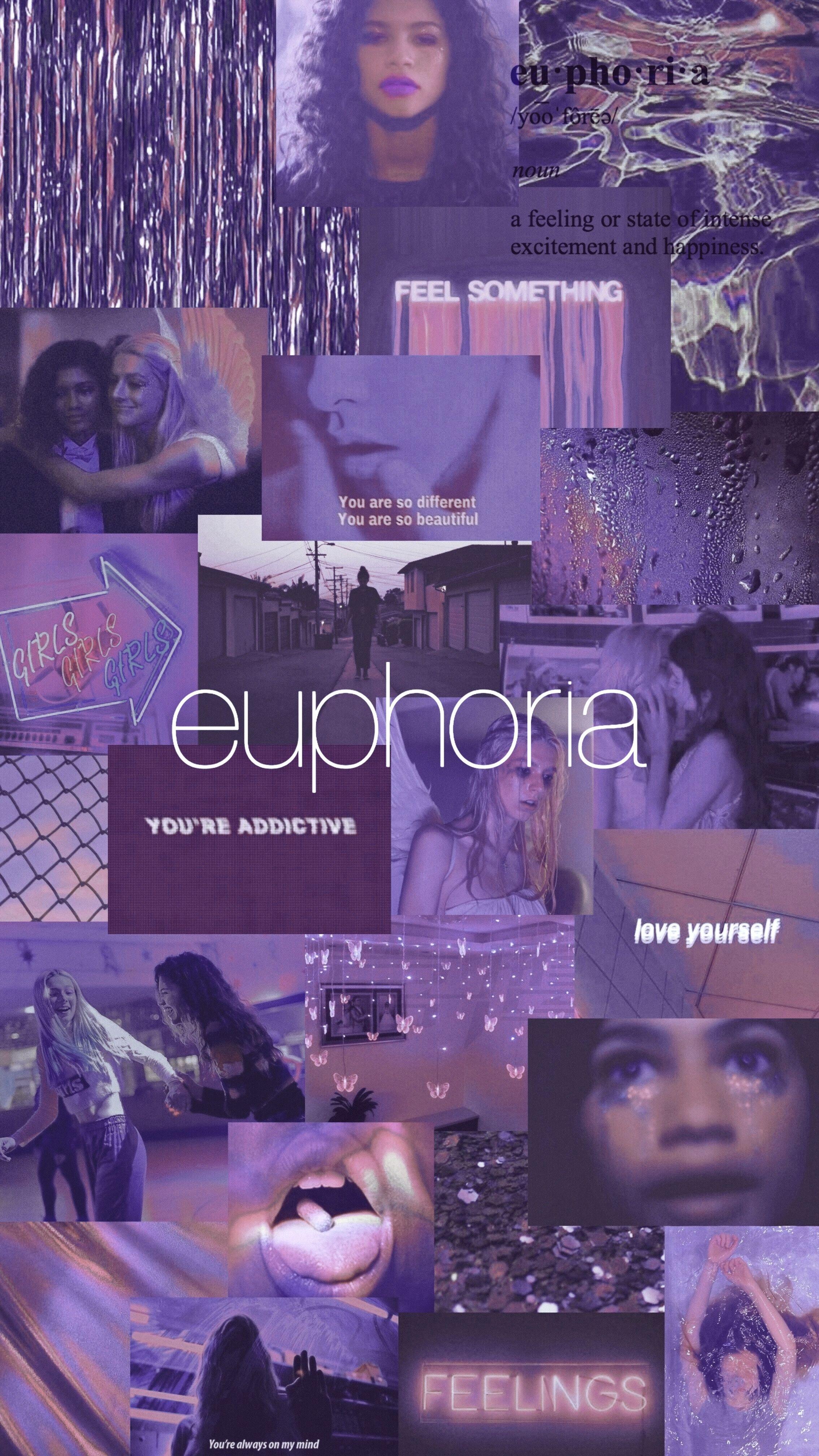 Euphoria Wallpaper Rue X Jules In 2020 Euphoria Purple Aesthetic Iphone Wallpaper Tumblr Aesthetic