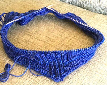 Inicio cuello dos agujas en pico | crochet | Pinterest | Dos agujas ...