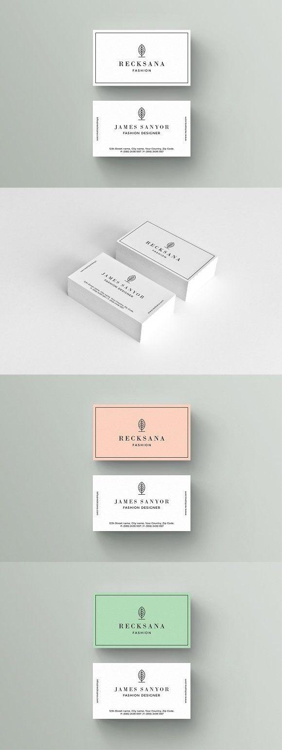 Recksana Business Card Template. Wedding Card Templates. $9.00