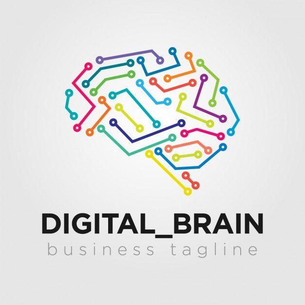 Descarga Gratis Logo Cerebro Digital Disenos De Unas Programas