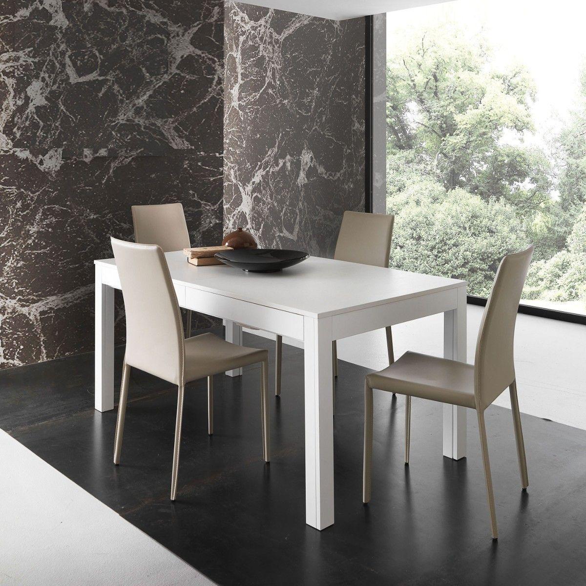 Tavolo soggiorno allungabile Sigvard in legno 160 x 90 cm