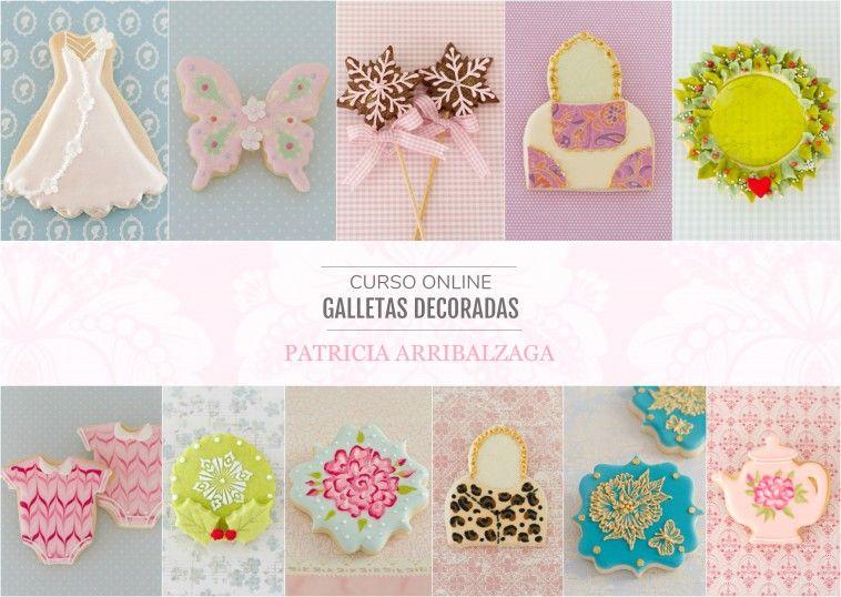 Curso Online de Galletas Decoradas - Patricia Arribálzaga www.cakeshautecouture.com