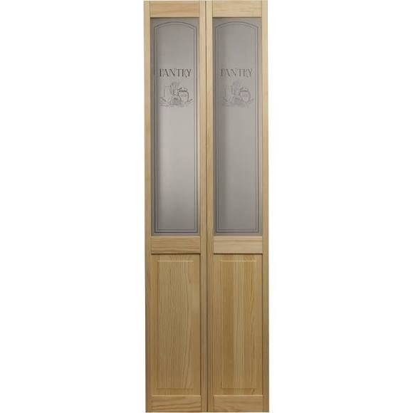Awc 647 Pantry Glass 24 X 80 Bifold Door Unfinished Brown With Images Glass Bifold Doors Bifold Door Hardware Bifold Doors