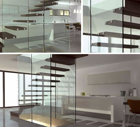 Modern Floating Glass Staircase   Google Search
