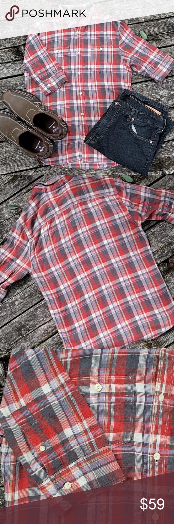 AllSaints Gotland Half Sleeve Plaid Flannel Shirt European