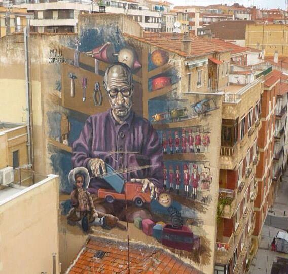 By Milu Correch New Mural Geppetto Salamanca Spain 07 09