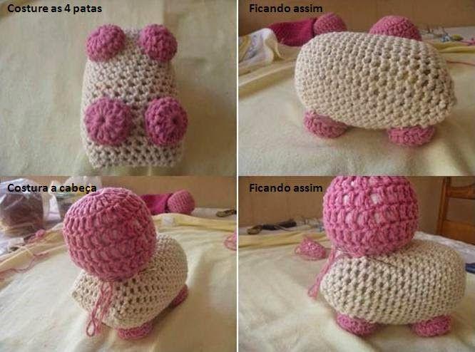 Carine Strieder e seus Crochês: PAP Cachorrinho Peso de Porta por Patrícia Souza