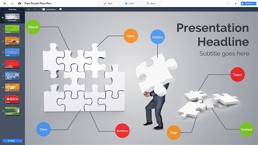 Free 3d Business Puzzle Problem And Solution Prezi Presentation