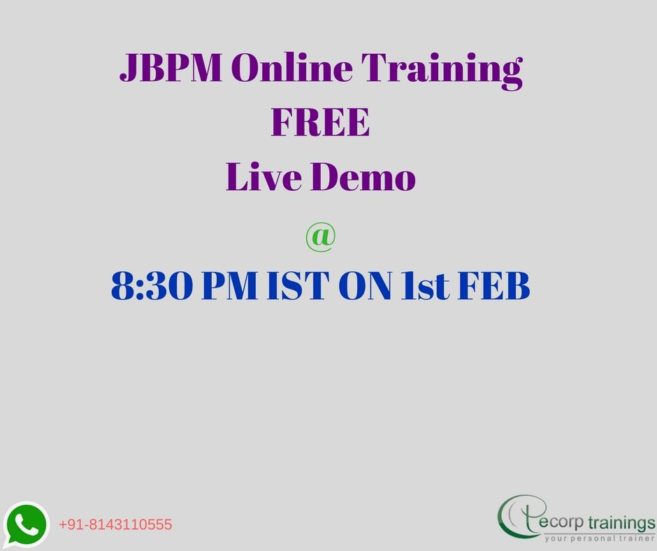 Best Institute For Learn Bpm With Jbpm Online Training In Hyderabad