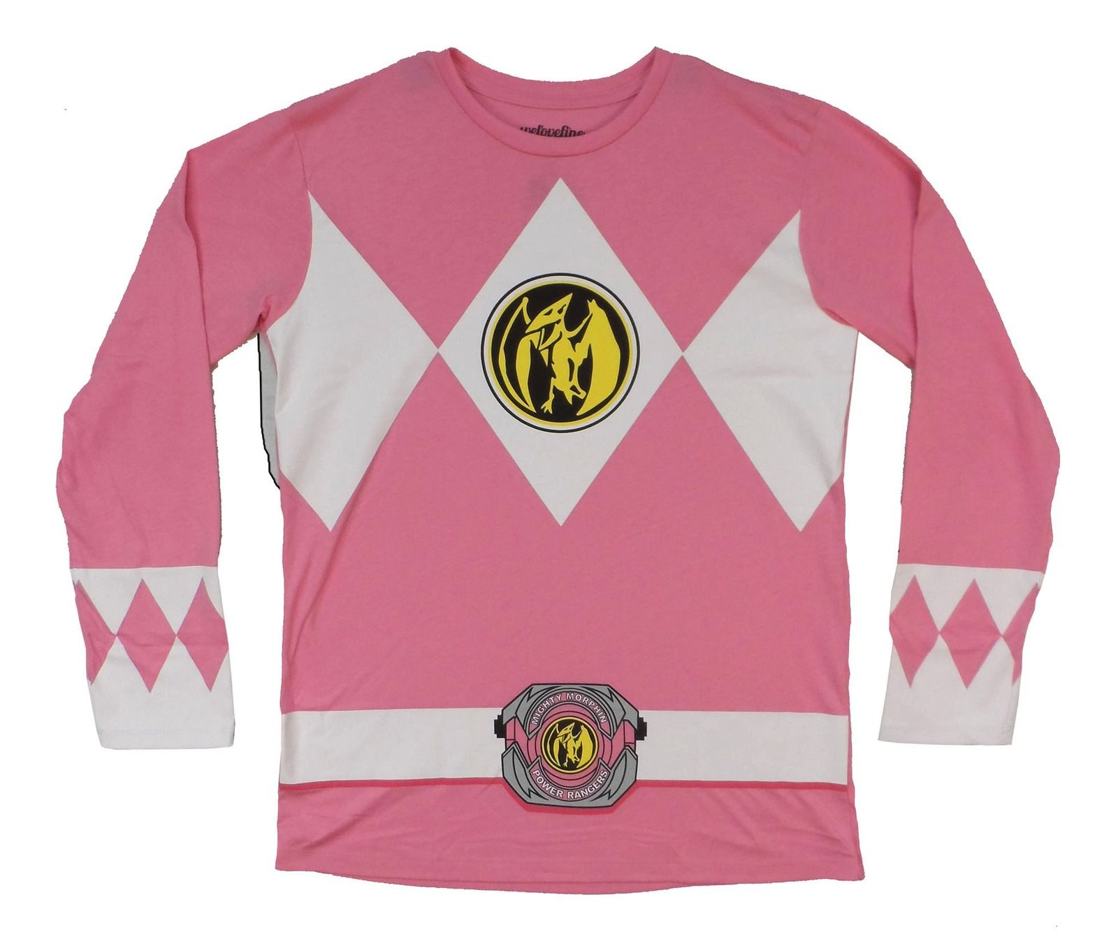 17bb5741535 Power Rangers I Am Pink Ranger Costume Licensed Adult Long Sleeve ...