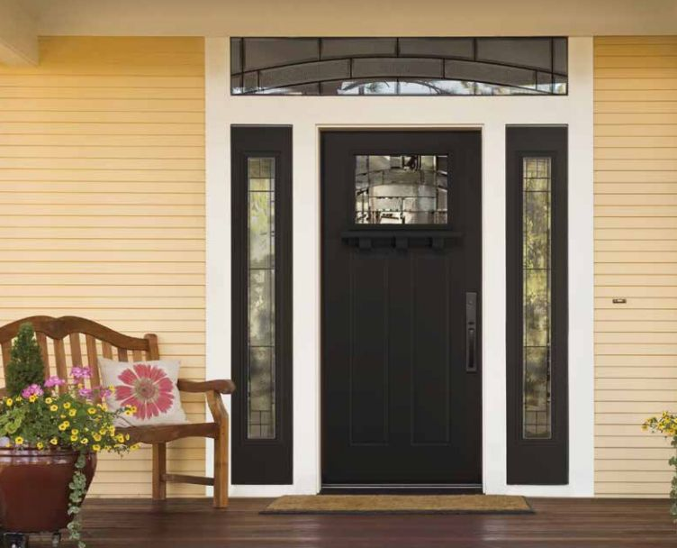 Masonite Elements Glass Craftsman Style Doors Garage Door Design Fiberglass Door
