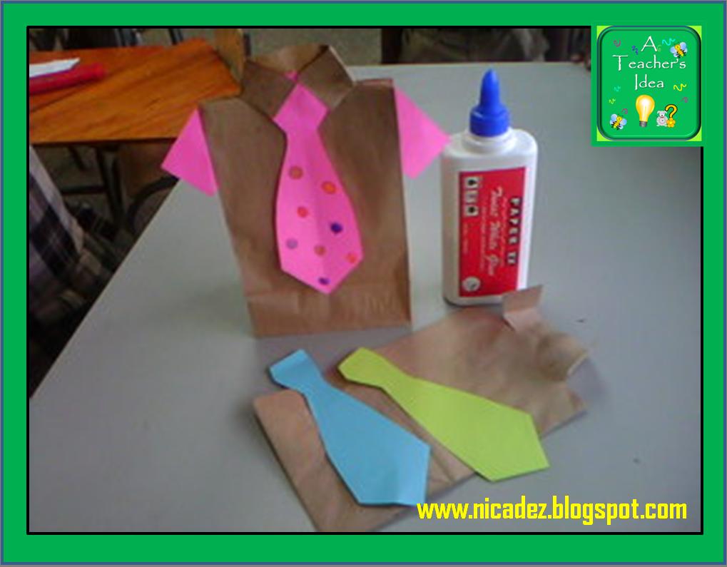 Fathers Day Kids Craft Ideas Part - 49: A Teacheru0027s Idea: Fatheru0027s Day Craft Ideas