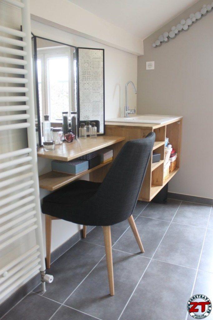 Fabriquer meuble vasque salle de bain sdb Pinterest - fabriquer meuble en placo