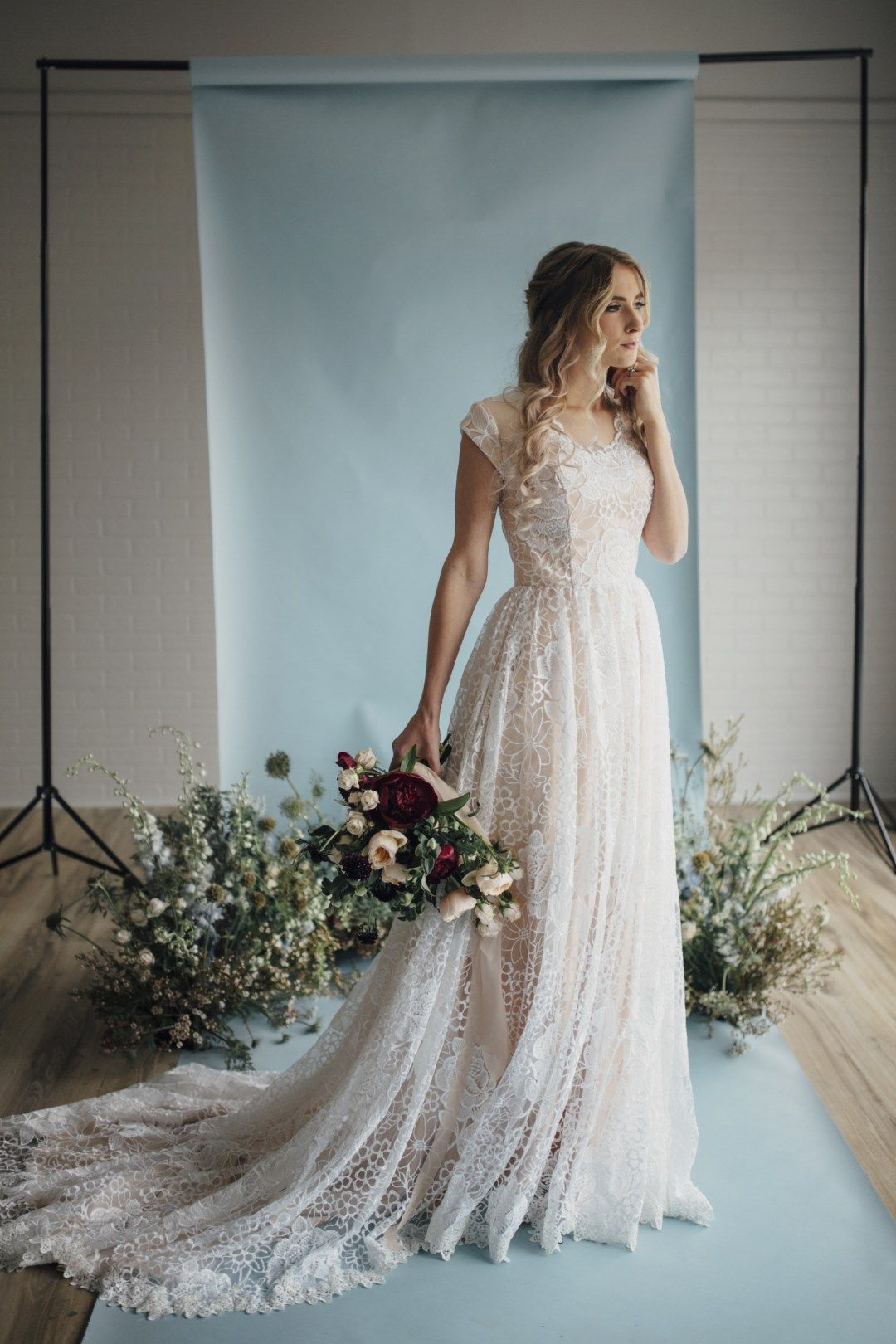 25 Modest Wedding Dresses with Short Sleeves | LDS Wedding | Modest ...