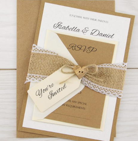 Dakota Parcel Wedding Invitation Pure Invitation Wedding Invites Wedding Invitations Uk Wedding Invitations Diy Rustic Wedding Invitations Rustic