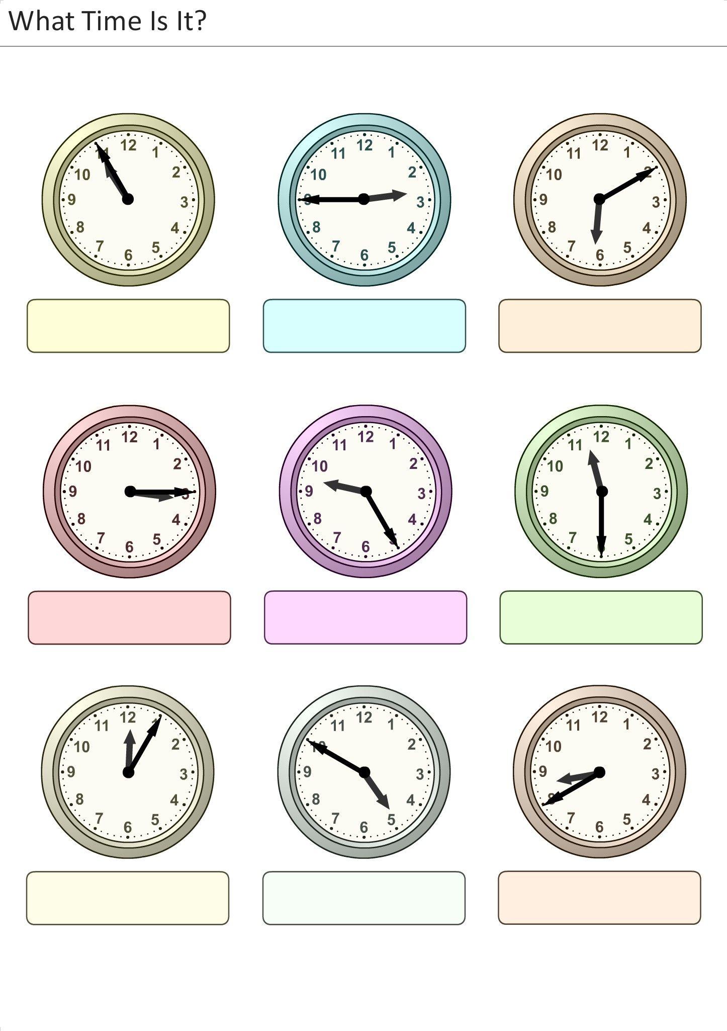 Arbeitsblätter und Aktivitäten für kinder ausdrucken. Wie spät ist ...