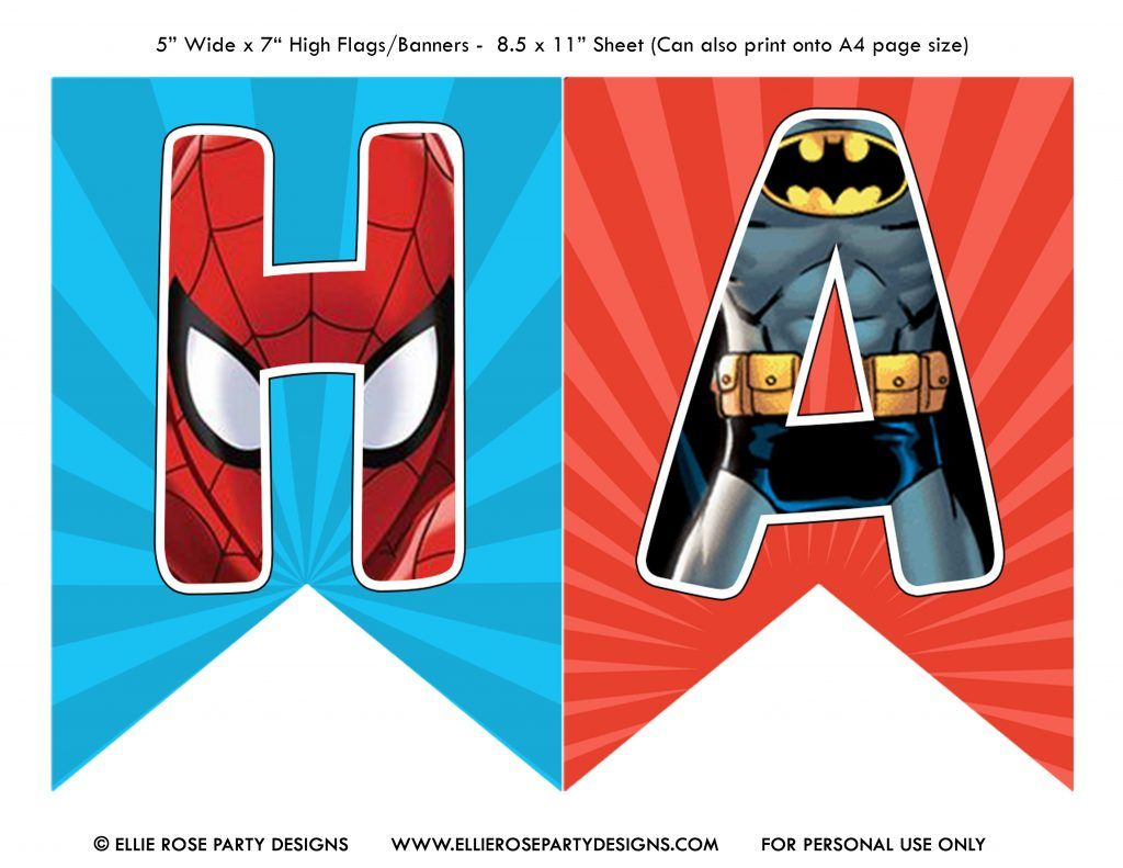 Free Avengers Birthday Party Printables Ellierosepartydesigns Com Happy Birthday Superhero Avengers Birthday Happy Birthday Printable