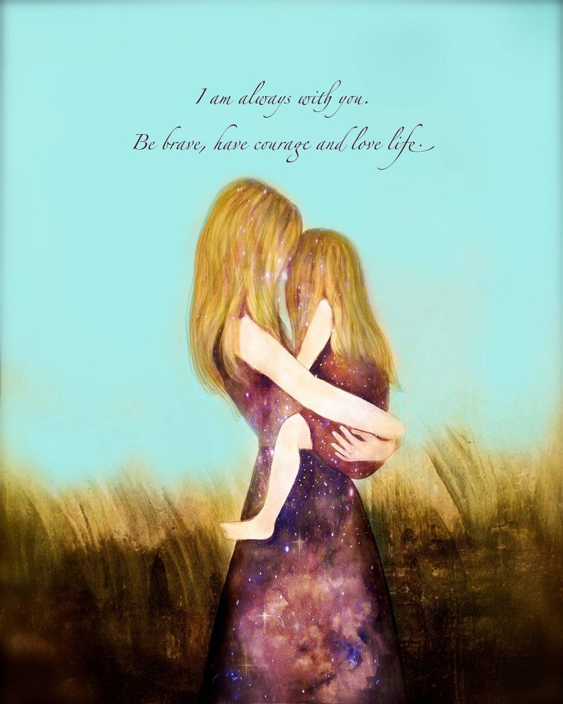 Blond mother and daughter turquoise sky   Etsy