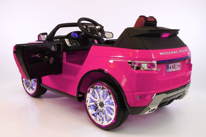 Pink Range Rover Back Evoque Style Kids Ride On Car Battery Powered Led Wheels Parental Remote Control M Toy Cars For Kids Pink Range Rovers Kids Ride On