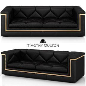 Gatsby sofa by Timothy Oulton #sofa #blacksofa #artdeco #modern #gold #homedecor #interiordesign