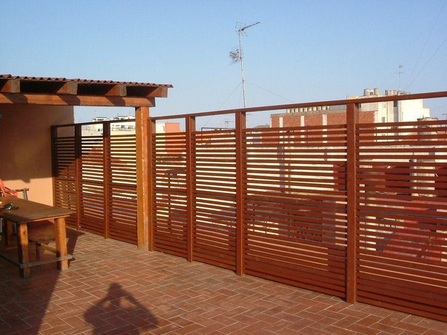 Fustmar vallas de madera vallas madera tropical - Valla madera jardin ...