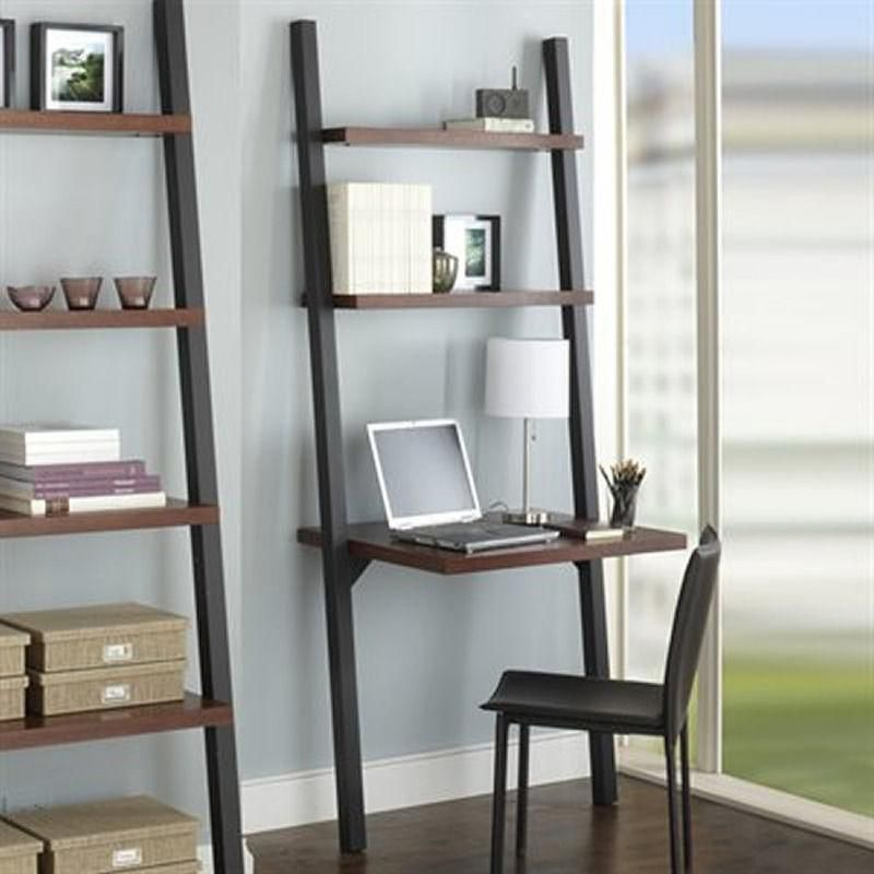 Ladder Desk With Bookcase From Ikea Shelves Bookcase Decor