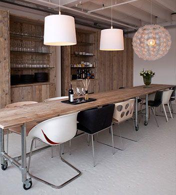 Mobilier pro en ancien bois d 39 chafaudage magasins d co maison mobilier et maison for Mobilier decoration maison