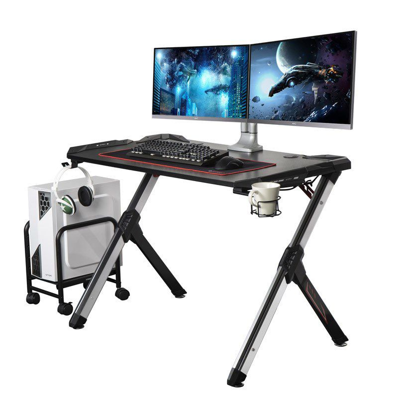 R1S Gaming Table With RGB Lights, Controller Stand, Cup